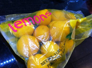 One bag o' lemons.
