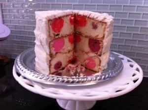Polka Dot Stunt Cake