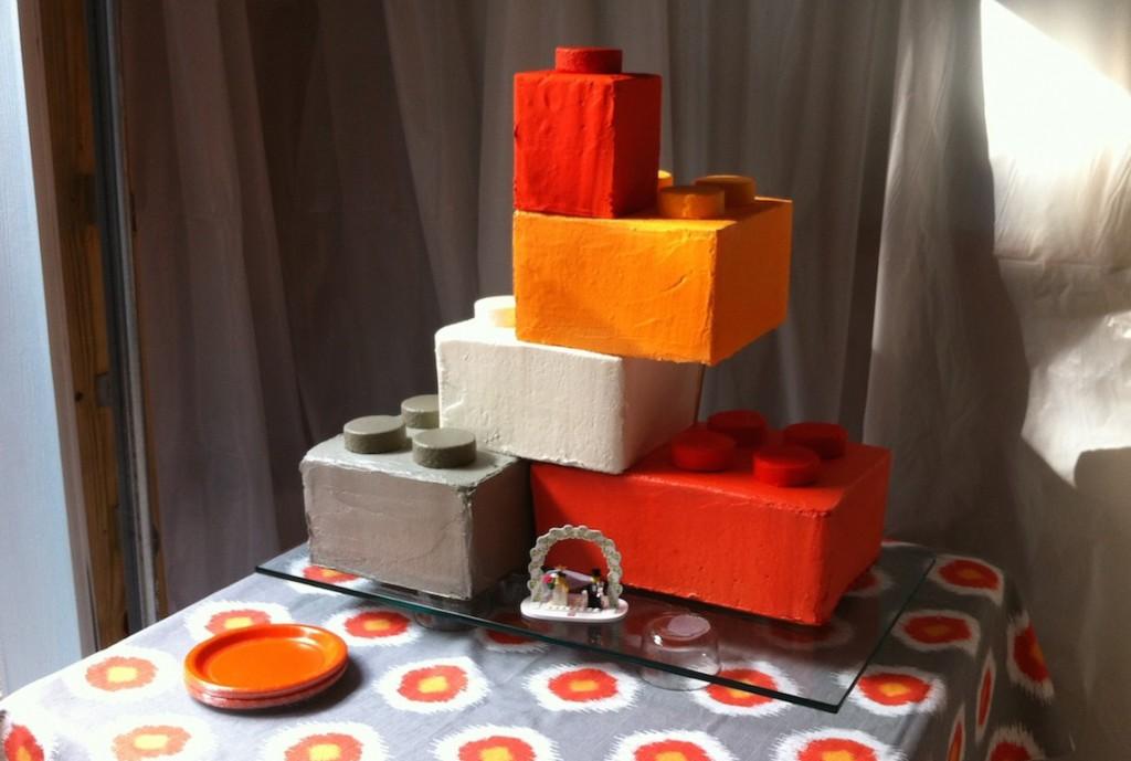 Uber Cool Lego Wedding Cake