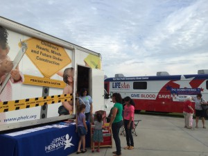 Early Learning and the Bloodmobile - a must for all community events