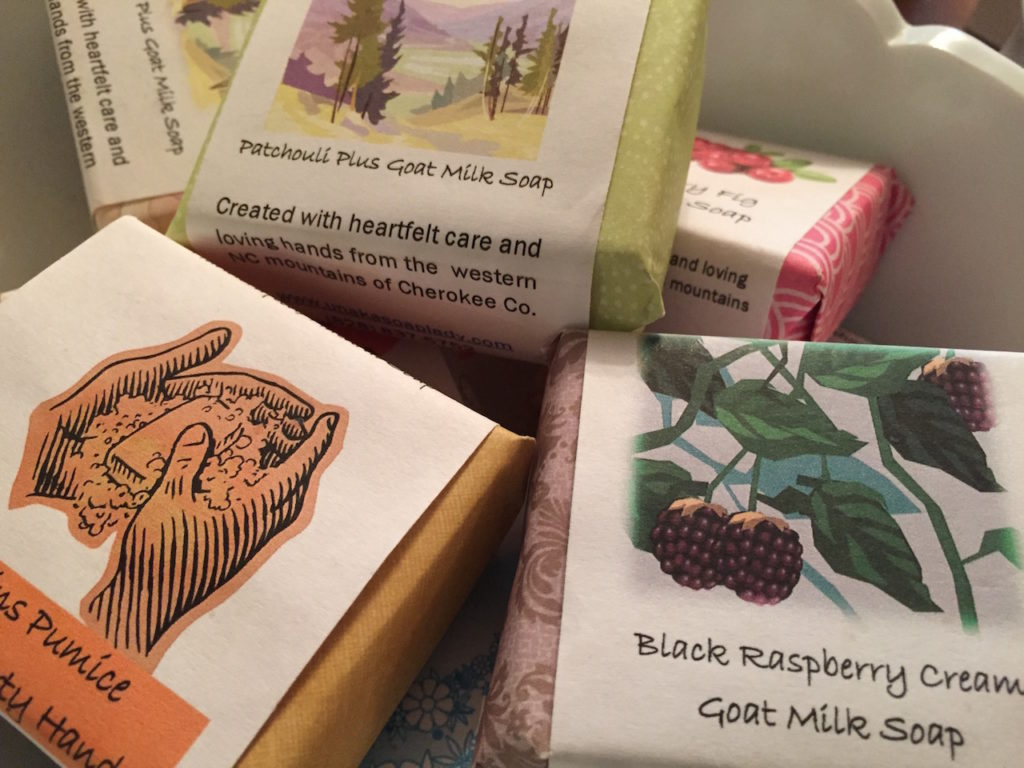 Handmade soaps from NC.