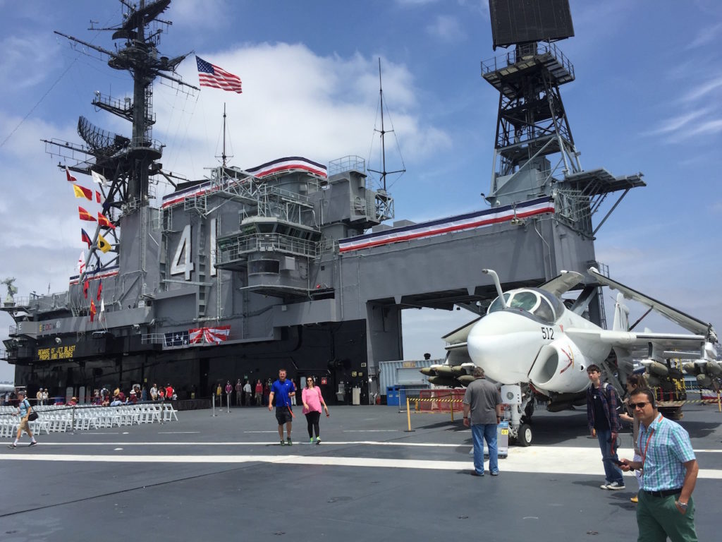 The flight deck is an aircraft museum.