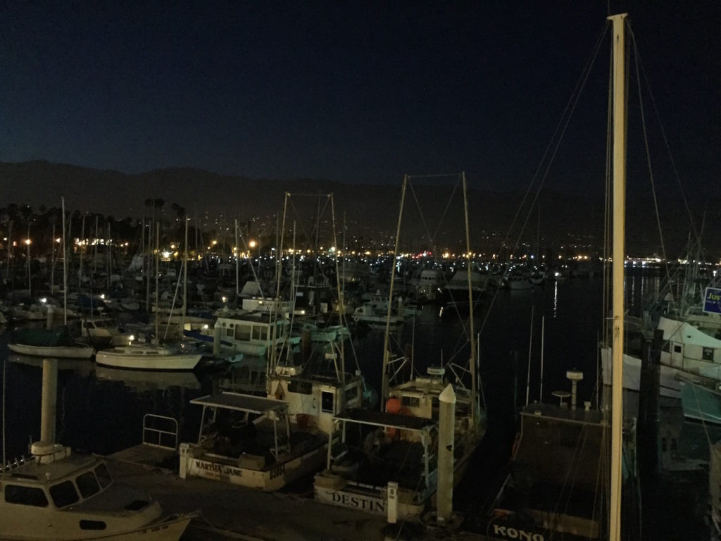 Santa Barbara at night.