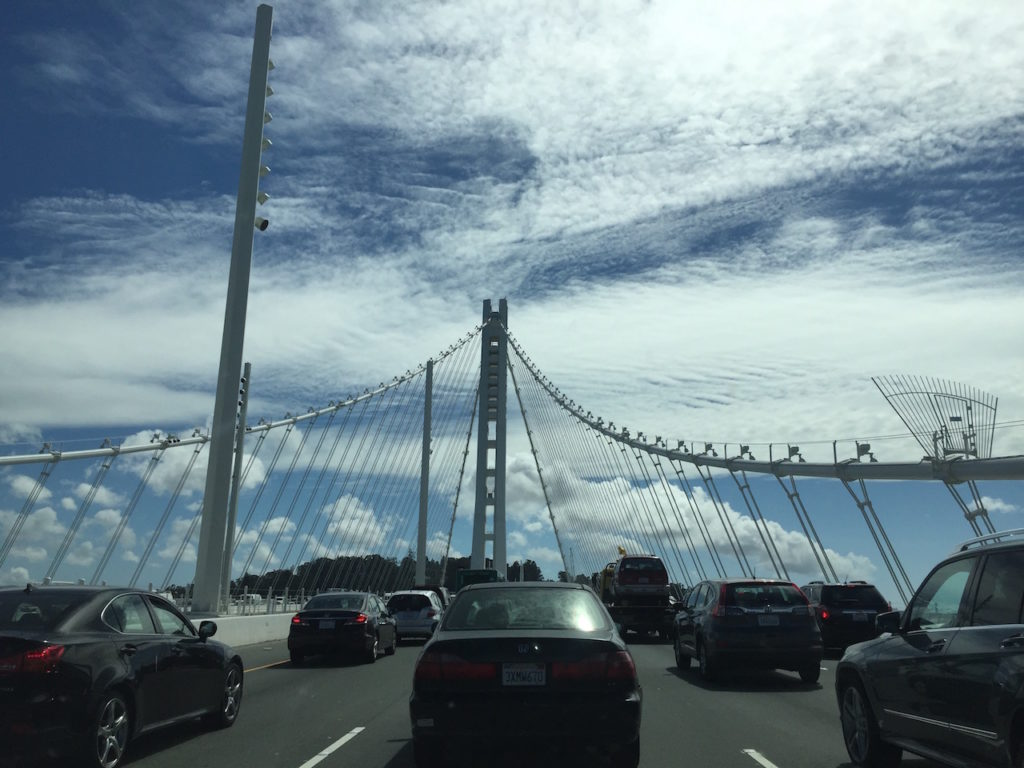 The Oakland Bay Bridge is impressive.